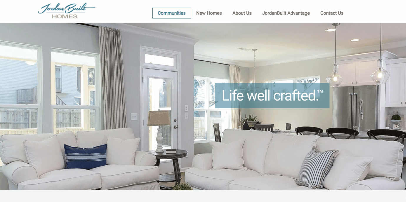 Martin Redesigns Website for JordanBuilt Homes